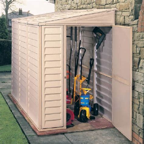 Duramax Plastic Shed by Duramax Sidemate Plastic Shed 4ft X 8ft Elbec Garden Buildings