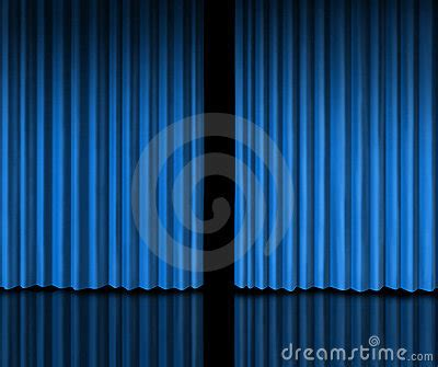 behind the blue curtain behind the blue curtain royalty free stock images image