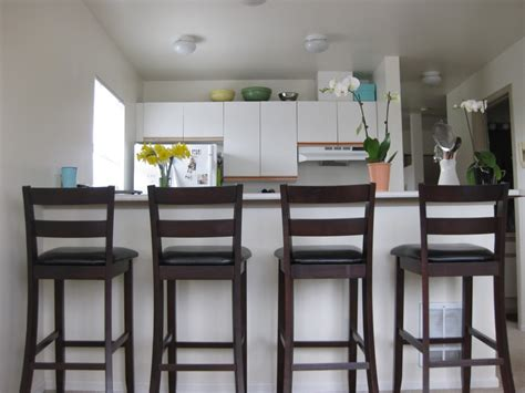 bar stools for the kitchen kitchen simple top cabinet near window on white wall paint and cute ceiling l for minimalist