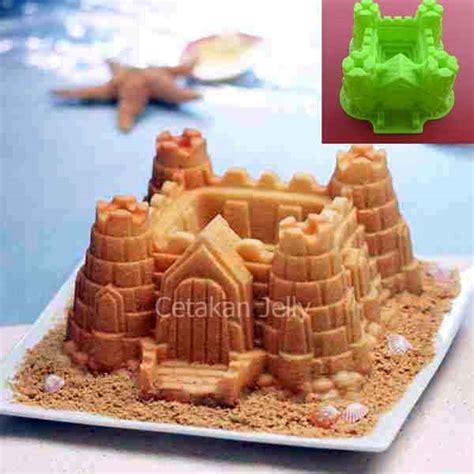Cetakan Silikon Kue Puding Stadium cetakan silikon kue puding castle cetakan jelly cetakan jelly