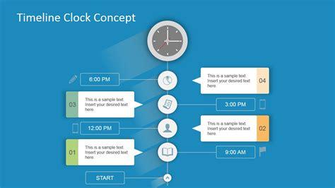 design concept architecture ppt timeline clock concept for powerpoint slidemodel
