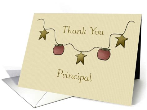 Thank You Card To Principal