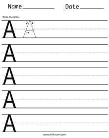 writing capital letters worksheet