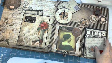 tutorial bìa scrapbook dcwv steunk tattered time scrapbook giant mini album by