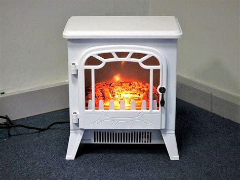details  white  electric fireplace heater