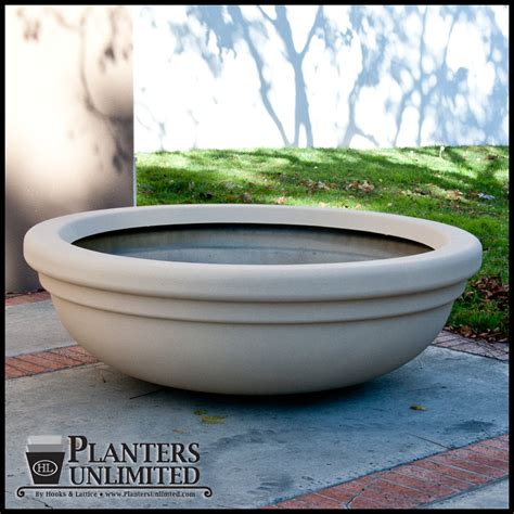 Large Outdoor Bowl Planters by Bowl Shaped Large Commercial Fiberglass Planters Outdoor