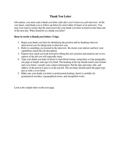 thank you letter tips how to write a thank you letter docshare tips