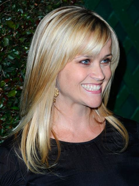 reese witherspoon angled bob 20 photos of hairstyles with gorgeous side swept bangs