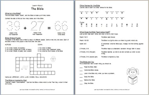 Books Of The Bible Worksheet Pdf