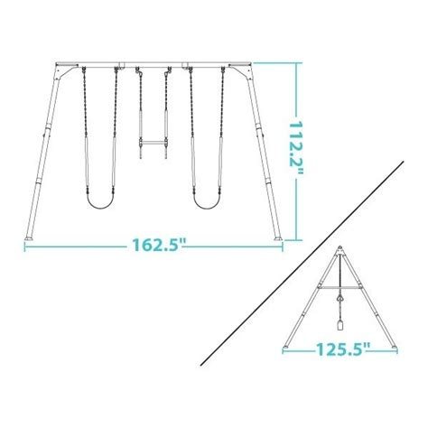 metal swing set kits lifetime heavy duty a frame metal swing set kit
