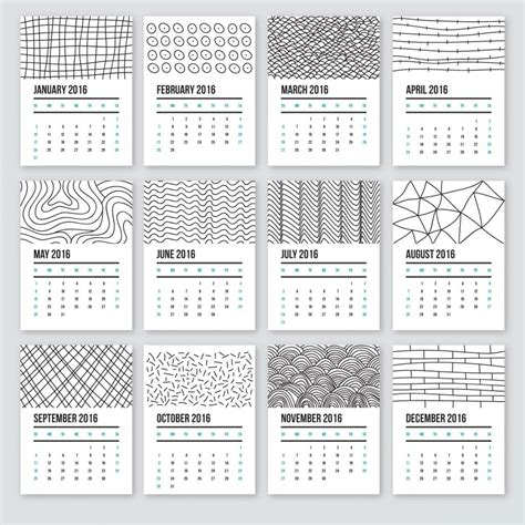 daily doodle calendar 2015 calendar 2016 in doodle style free