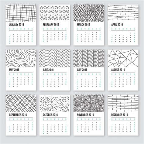 doodle calendar planner calendar 2016 in doodle style free
