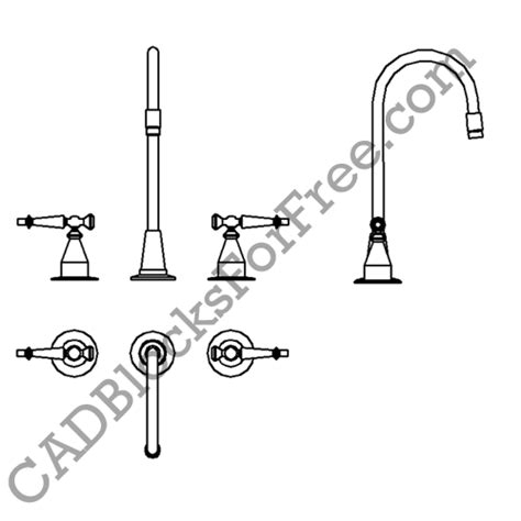 Faucet Cad by Cadblocksforfree Taps Faucets Added Total Uploads
