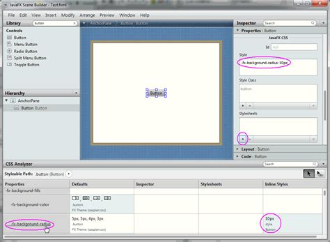 javafx scene layout background javafx scene builder user guide skinning with css and the