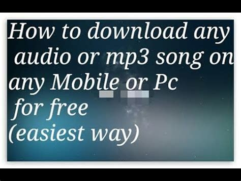 easiest way to download mp3 from youtube how to download any audio or mp3 song music on mobile or
