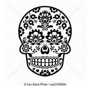 Clip Art Vector Of Mexican Sugar Skull Polish Folk