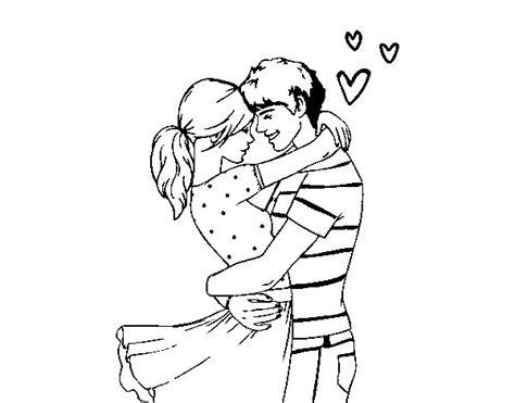 imagenes para dibujar de parejas dibujo de pareja enamorada para colorear dibujos net