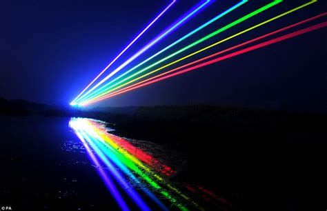 Lasers Form Global Rainbow To Mark Start Of The Cultural Rainbow Lights