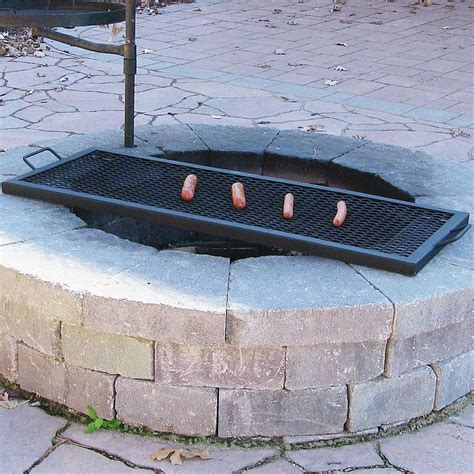 outdoor pit cooking grates rectangle outdoor wood pit mesh cooking grill grate