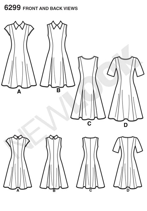 pattern review new look new look 6299 misses dress with neckline sleeve variations