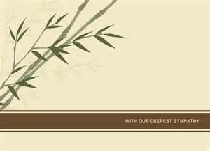 sympathy cards sympathy card bamboo
