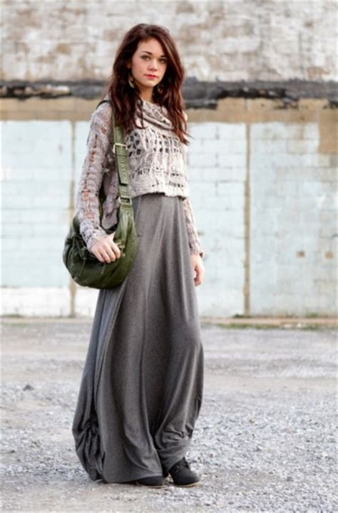 chic and stylish ways to style maxi skirts 187