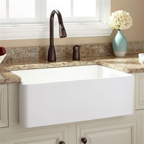 romano fireclay sinks 30 quot baldwin fireclay farmhouse sink smooth apron white
