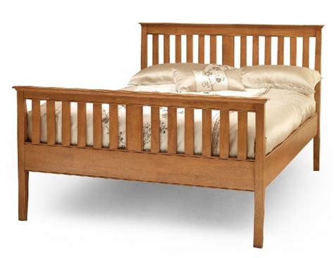 Serene Grace 4ft Small Double Cherry Wooden Bed Frame With Small Wooden Bed Frame