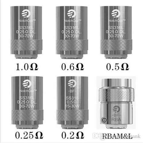 Joyetech Bf Ss316 0 5ohm 0 6ohm Replacement Spare Parts joyetech ego aio coils bf ss316 0 6ohm 1 0 ohm 0 2 ohm 0 25ohm 0 5ohm bf rba coil authentic