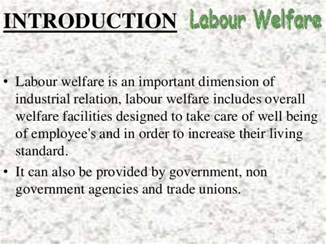 Industrial Relations And Labour Laws Mba Notes by Labour Welfare Power Point Presentation