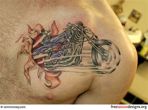 tattoo designs motorcycle biker and harley davidson tattoos