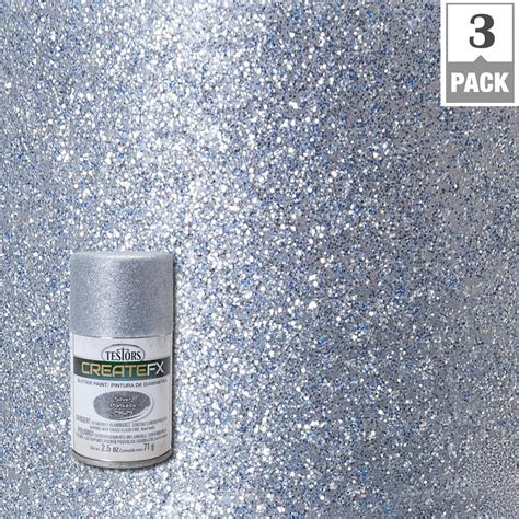spray paint plastic silver testors createfx 2 5 oz silver glitter spray paint 3