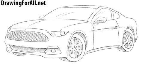 mustang drawing how to draw a ford mustang drawingforall