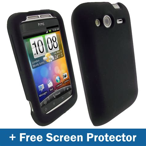 android themes htc wildfire black silicone skin case for htc wildfire s android