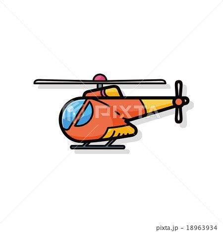 doodle helicopter helicopter doodleのイラスト素材 18963934 pixta