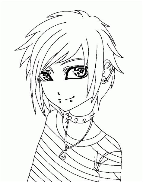 emo coloring pages coloring home