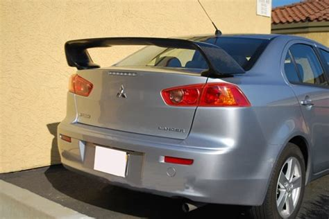 evo 10 spoiler carbon fiber rear spoiler for 2008 2012 mitsubishi evo 10