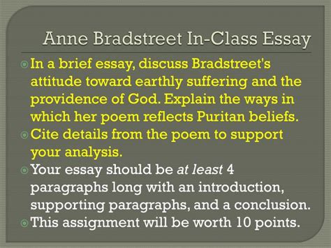 Bradstreet Essay by Bradstreet Essay
