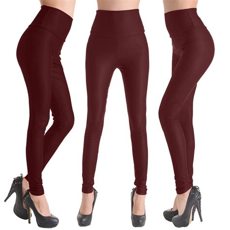 high and tight for women fashion womens sexy skinny faux leather high waist tight