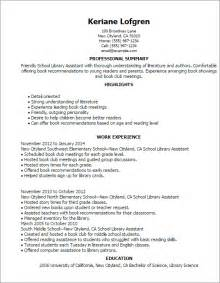 Library Assistant Resume professional school library assistant templates to