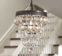 bathroom chandelier clarissa glass drop small chandelier pottery barn