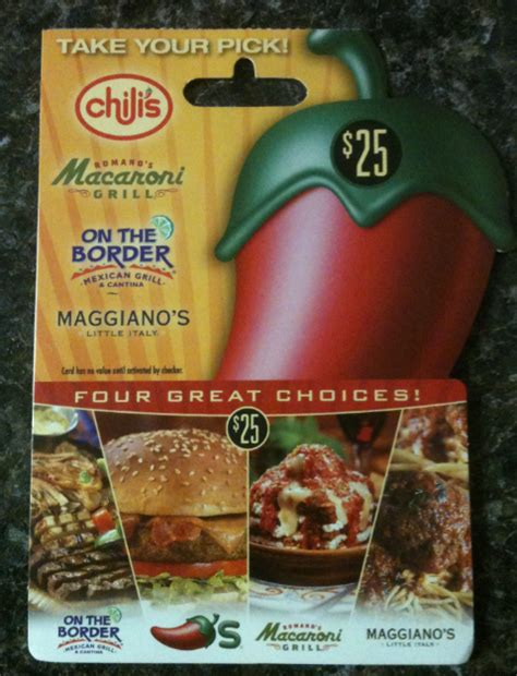 Chili S Restaurant Gift Card - giveaway