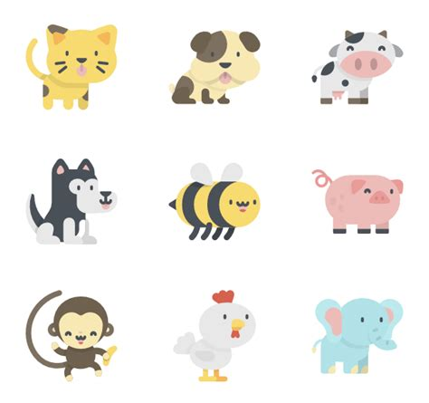 imagenes kawaii animals 80 zoo icon packs vector icon packs svg psd png eps