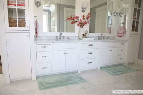 White master bathroom ready for spring the sunny side up blog