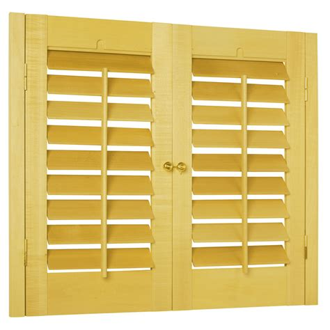 Wood Shutters Interior Lowes by Shop Allen Roth 35 In To 37 In W X 24 In L Plantation
