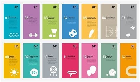 brochure design designspiration series of brochures for a sporting venue the graphic