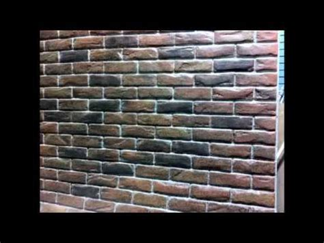 poured basement painted to look like brick basement brick wall creative painting techniques youtube