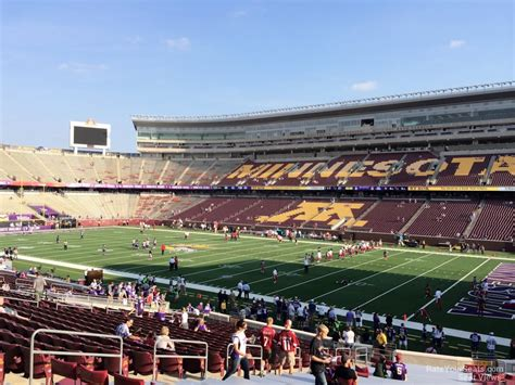bank sections tcf bank stadium section 105 minnesota football