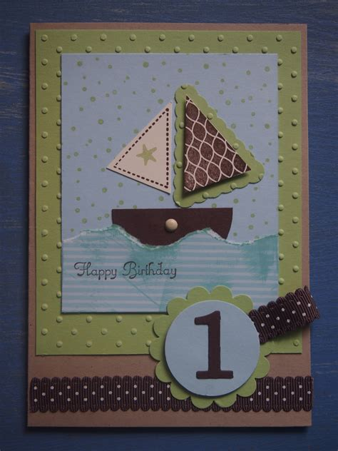 Handmade 1st Birthday Cards - paper crafts flushed with rosy colour