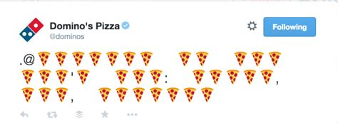 domino pizza twitter domino s pizza uses emoji storm to tease twitter triggered